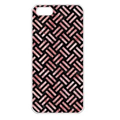 Woven2 Black Marble & Red & White Marble Apple Iphone 5 Seamless Case (white)
