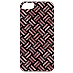 Woven2 Black Marble & Red & White Marble Apple Iphone 5 Classic Hardshell Case