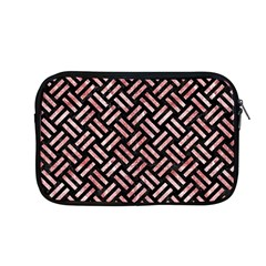 Woven2 Black Marble & Red & White Marble Apple Macbook Pro 13  Zipper Case