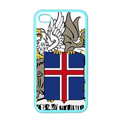 Coat Of Arms Of Iceland Apple Iphone 4 Case (color)