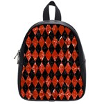 DIAMOND1 BLACK MARBLE & RED MARBLE School Bag (Small) Front