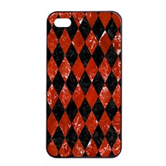 Diamond1 Black Marble & Red Marble Apple Iphone 4/4s Seamless Case (black)