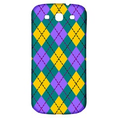 Texture Background Argyle Teal Samsung Galaxy S3 S Iii Classic Hardshell Back Case