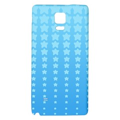 Blue Stars Background Galaxy Note 4 Back Case