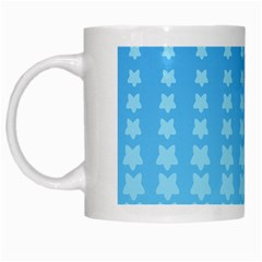 Blue Stars Background Line White Mugs
