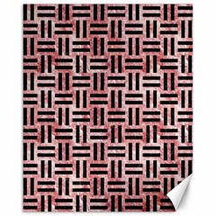 Woven1 Black Marble & Red & White Marble (r) Canvas 16  X 20