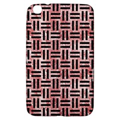 Woven1 Black Marble & Red & White Marble (r) Samsung Galaxy Tab 3 (8 ) T3100 Hardshell Case