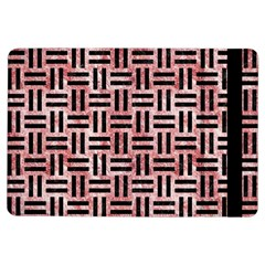 Woven1 Black Marble & Red & White Marble (r) Apple Ipad Air Flip Case