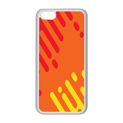 Color Minimalism Red Yellow Apple Iphone 5c Seamless Case (white)
