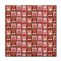 Eye Owl Colorfull Pink Orange Brown Copy Tile Coasters
