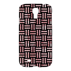 Woven1 Black Marble & Red & White Marble Samsung Galaxy S4 I9500/i9505 Hardshell Case