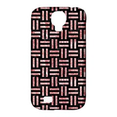 Woven1 Black Marble & Red & White Marble Samsung Galaxy S4 Classic Hardshell Case (pc+silicone)
