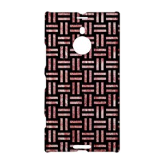 Woven1 Black Marble & Red & White Marble Nokia Lumia 1520 Hardshell Case