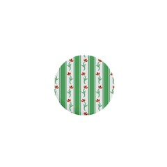 Flower Background Green 1  Mini Buttons
