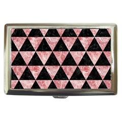 Triangle3 Black Marble & Red & White Marble Cigarette Money Case