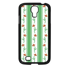 Flower Background Green Samsung Galaxy S4 I9500/ I9505 Case (black)