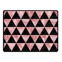 Triangle3 Black Marble & Red & White Marble Double Sided Fleece Blanket (small)