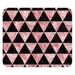 Triangle3 Black Marble & Red & White Marble Double Sided Flano Blanket (small)