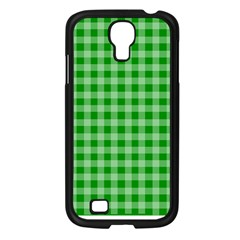 Gingham Background Fabric Texture Samsung Galaxy S4 I9500/ I9505 Case (black)