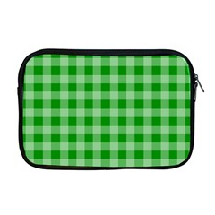 Gingham Background Fabric Texture Apple Macbook Pro 17  Zipper Case