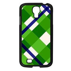 Green Plaid Samsung Galaxy S4 I9500/ I9505 Case (black)