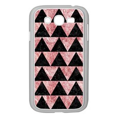 Triangle2 Black Marble & Red & White Marble Samsung Galaxy Grand Duos I9082 Case (white)