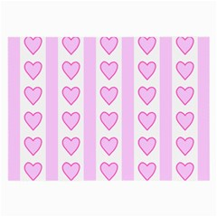 Heart Pink Valentine Day Large Glasses Cloth