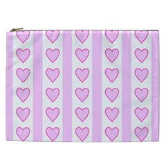 Heart Pink Valentine Day Cosmetic Bag (xxl)