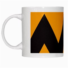 Minimal Modern Simple Orange White Mugs