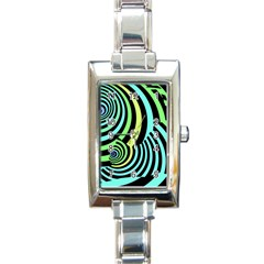 Optical Illusions Checkered Basic Optical Bending Pictures Cat Rectangle Italian Charm Watch