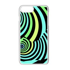 Optical Illusions Checkered Basic Optical Bending Pictures Cat Apple Iphone 7 Plus White Seamless Case
