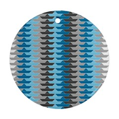 Pattern Boats Background Ship Ornament (round)