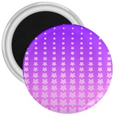 Purple And Pink Stars Line 3  Magnets