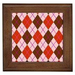 Texture Background Argyle Brown Framed Tiles