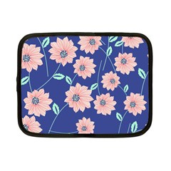 Seamless Blue Floral Netbook Case (small)