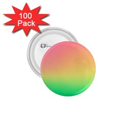 The Walls Pink Green Yellow 1 75  Buttons (100 Pack)