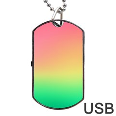 The Walls Pink Green Yellow Dog Tag Usb Flash (one Side)