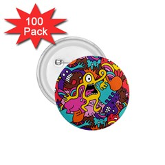 Monsters Pattern 1 75  Buttons (100 Pack)