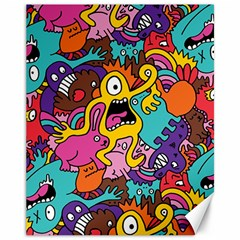 Monsters Pattern Canvas 11  X 14