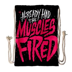 Muscles Fired Drawstring Bag (large)