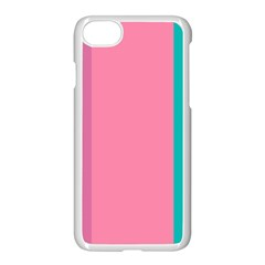 Pink Blue Three Color Apple Iphone 7 Seamless Case (white)