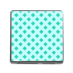 Plaid Blue Box Memory Card Reader (square)