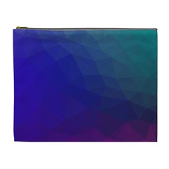 Polyart Dark Blue Purple Pattern Cosmetic Bag (xl)