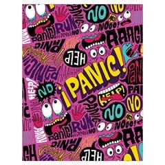 Panic Pattern Drawstring Bag (large)