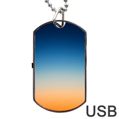 Rainbow Blue Orange Purple Dog Tag Usb Flash (one Side)
