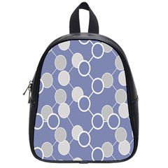 Round Blue School Bags (small)