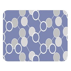 Round Blue Double Sided Flano Blanket (large)
