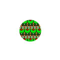 Sitfrog Orange Face Green Frog Copy 1  Mini Buttons