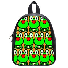 Sitfrog Orange Face Green Frog Copy School Bags (small)