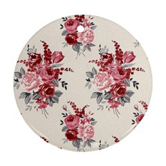 Rose Beauty Flora Round Ornament (two Sides)